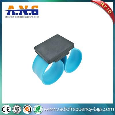 Silicone reflexivos pulseiras RFID Slapband com aço inoxidável flexível