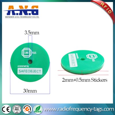 Waterproof ABS RFID Coin Tag Token with 3m Adhesive