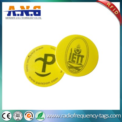 Waterproof PVC Small Lf RFID Disc Tag with 3m Adhesive