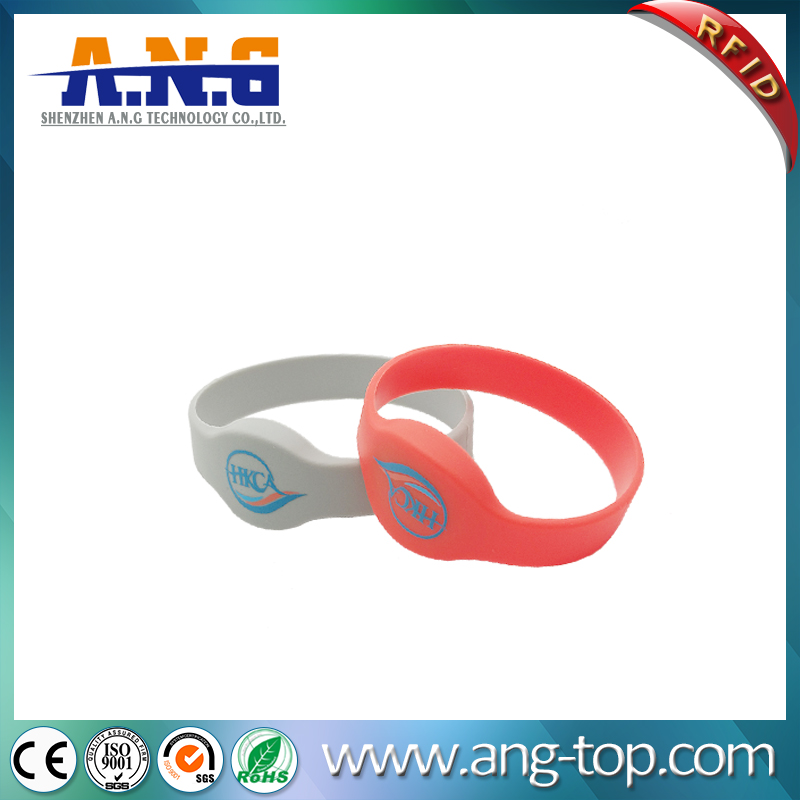 ISO11784/5  TK4100 chip LF 125Khz RFID wristbands for events