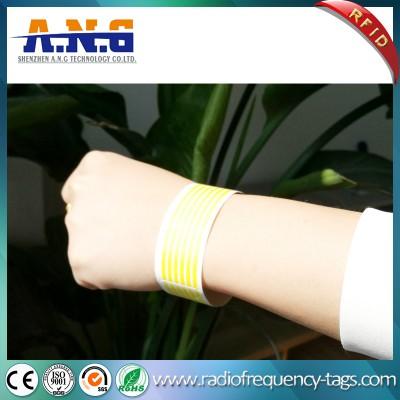 Adjustable Waterproof RFID Paper Tyvek Wristbands for Concerts