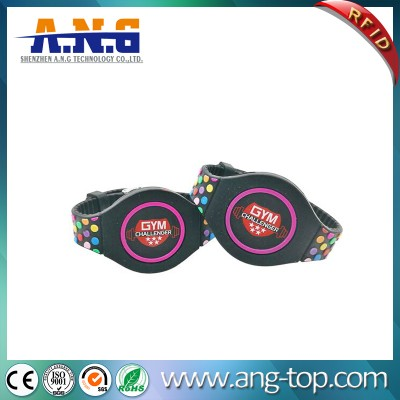 Colorful Silicone RFID bracelet for Fitness Center access control