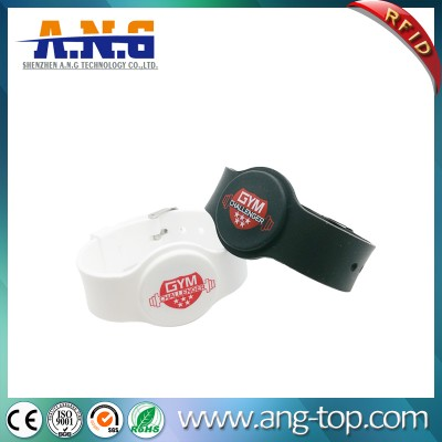 Waterproof 13.56MHz flexible Adjustable UHF RFID Silicone Bracelet