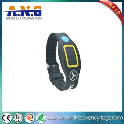Personalize ajustável NFC RFID Pulseira com luz LED