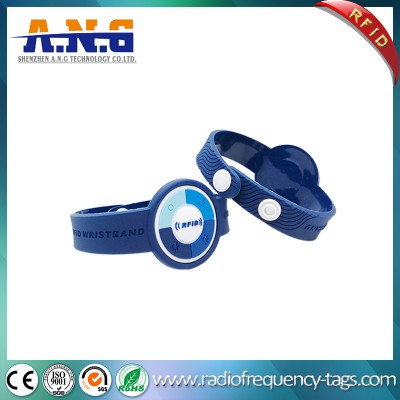 13.56MHz NFC Ultralight Wrist Band RFID Bracelet for Theme Park
